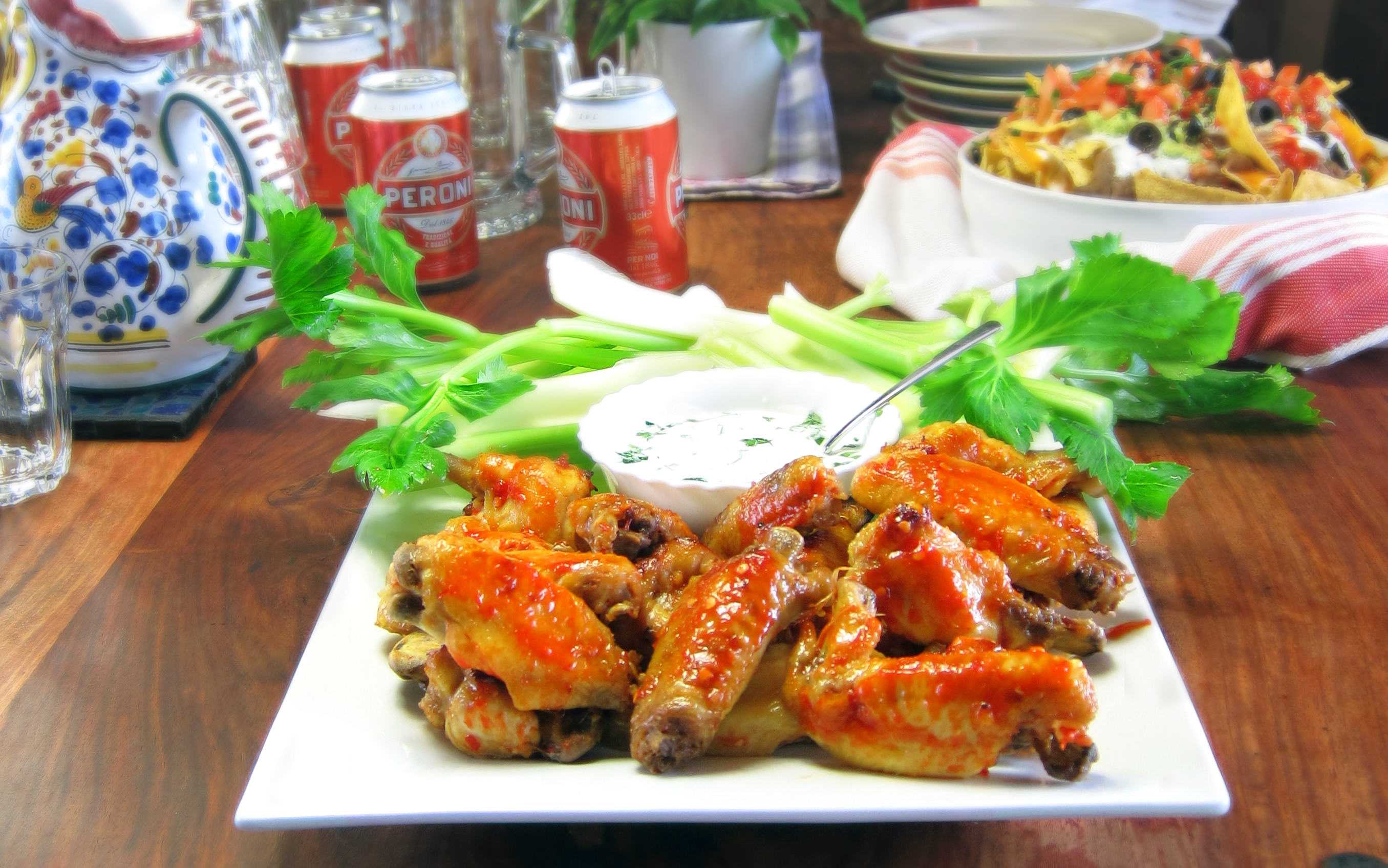 Chicken cottage spicy wings recipe