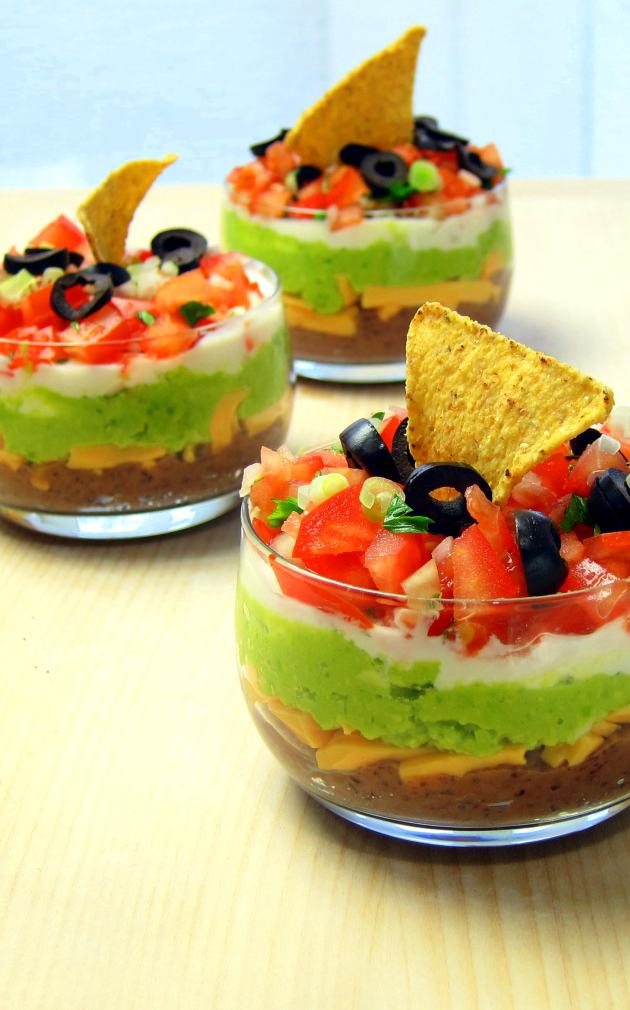 Seven Layer Dip with Refried Beans - pressure cooker recipe!