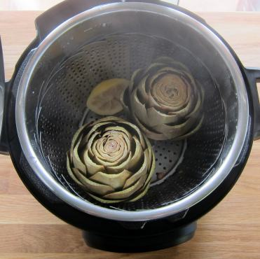 Artichokes after pressure cooking