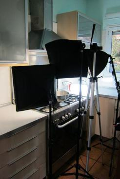 Technique photos for the front of the book - in my kitchen.