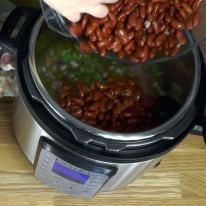 Add soaked beans..