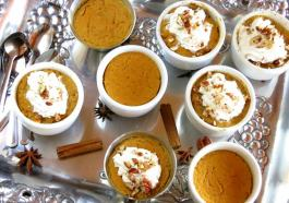 Crustless Pumpkin Pies (or filling for a crust) - pressure cooked