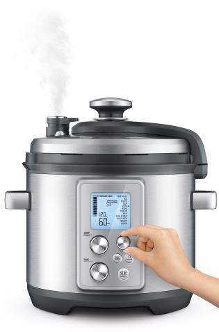 "Marketing photo of Breville's new electric pressure cooker""the Fast Slow Pro"""