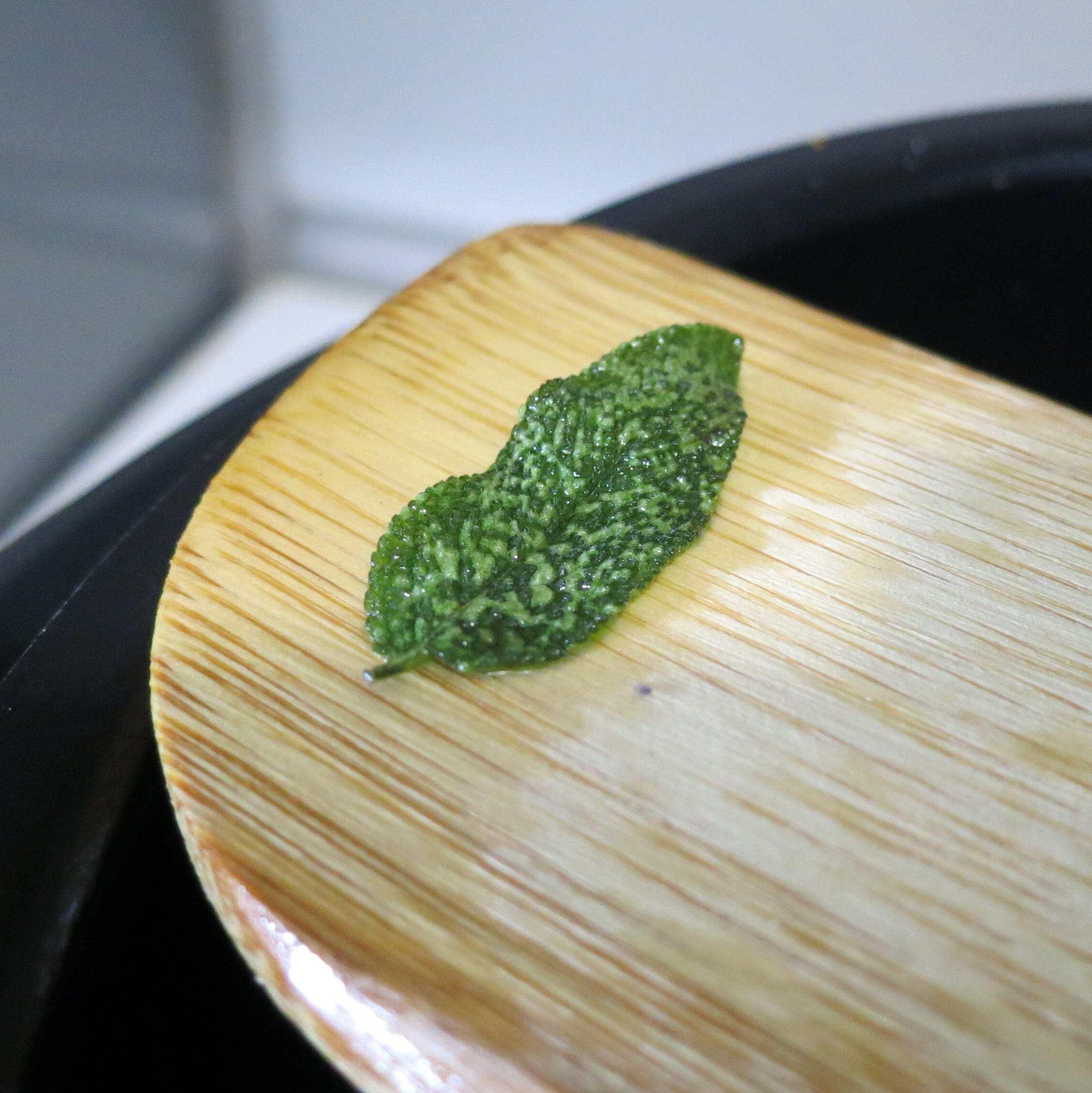 Polka-dotted leaves mean they are crispy.