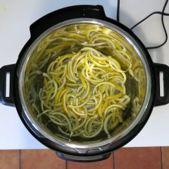 Boil strips with just water.
