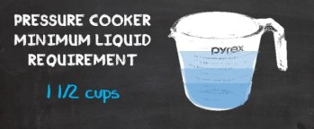 Pressure Cooker Minimum Liquid Requirement