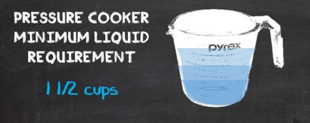 Pressure Cooker Minimum Liquid Requirement