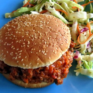 Skinny Sloppy Joes with Tangy Slaw