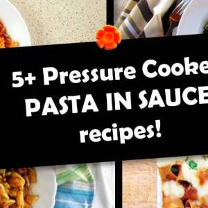 5+ Pressure Cooker PASTA IN SAUCE Recipes