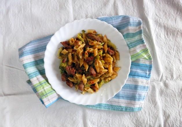 Pressure Cooker Broccoli & Sausage Pasta One Pot Meal