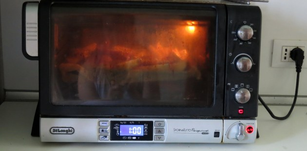 My heavily-used breadmaking toaster oven.