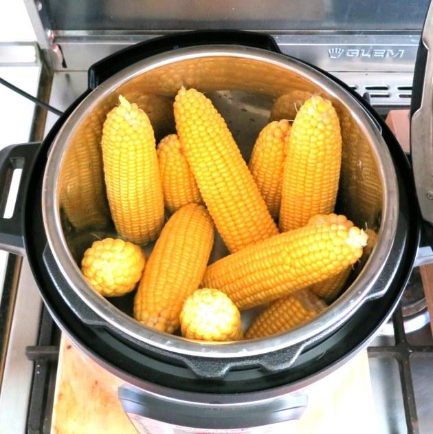 corn in the pressure cooker
