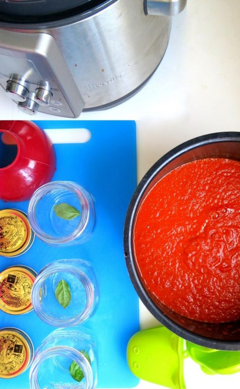 Tomato Sauce from FRESH Tomatoes - Electric Pressure Cooker & Instant Pot Recipe