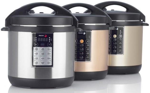 Fagor LUX Electric Pressure and Multi-cooker in Stainless Steel, Copper and Champagne