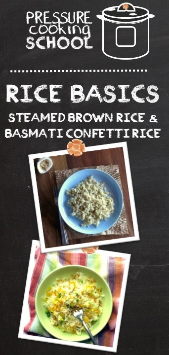 Pressure Cooker Rice Basics - Pressure Cooking School