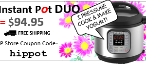Get Instant Pot duo for $94.95 + free shipping using cupon code: HIPPOT