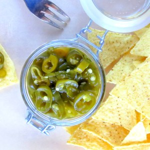 Super-quick-pickled Green Peppers !