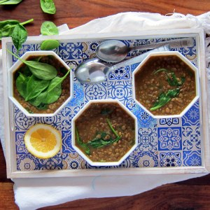 SPICY & FRESH: North African-Inspired Lentil and Spinach Soup