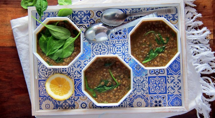 Spiced Lentil and Spinach Soup - Instant Pot Pressure Cooker Recipe