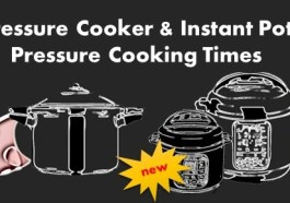 Instant Pot and Pressure Cooker Cooking Times