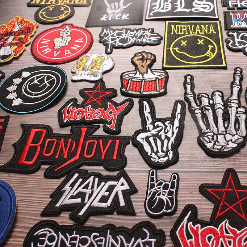 Embroidery Patch Punk Rock Hippie Band Patch On Cloth Iron On Patches 1