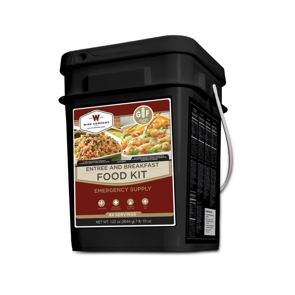 Breakfast and Entree GLUTEN FREE Grab and Go Food Kit 84 Servings