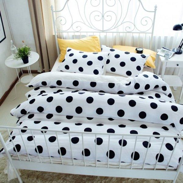 Contemporary Modern Black And White Polka Dot Print Elegant Girls Hipster Reversible 100 Cotton