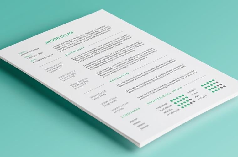 9 free minimal resume templates hipsthetic