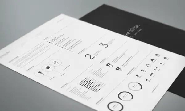 free minimal resume template by fernando bez
