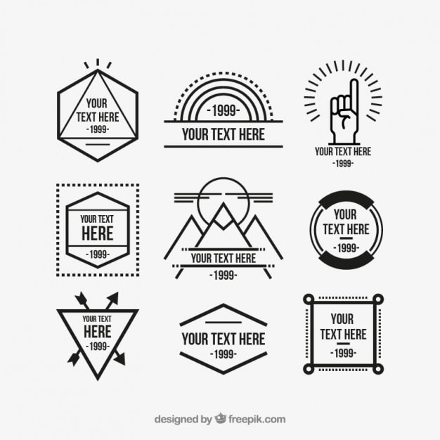 13 free vector hipster logo template sets hipsthetic