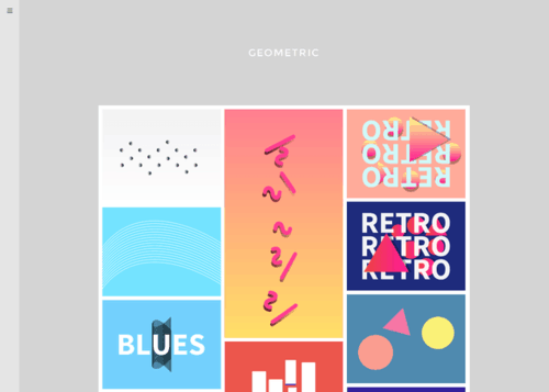 Geometric Free Minimal Tumblr Theme