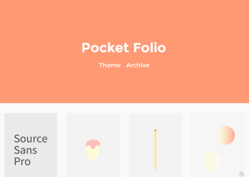 Pocket Folio Free Minimal Tumblr Theme