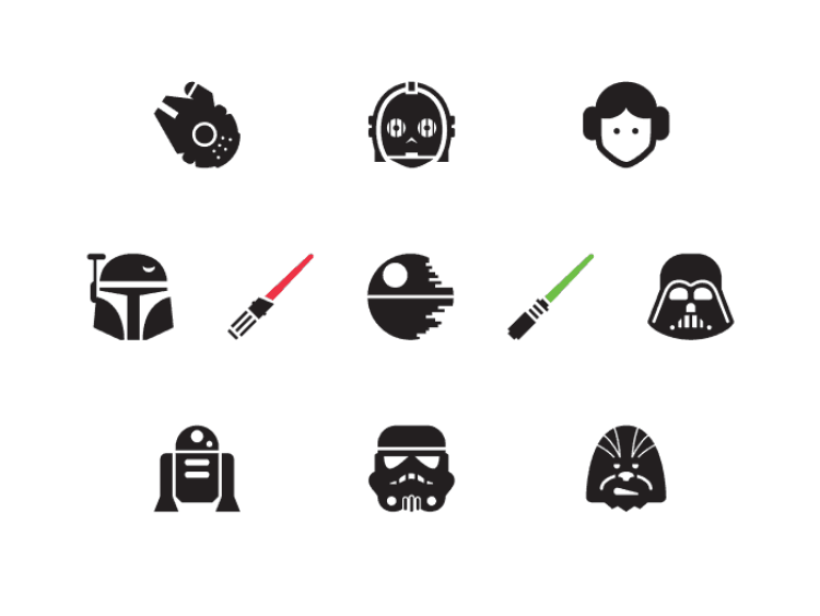 Free Vector Star Wars Icon Set