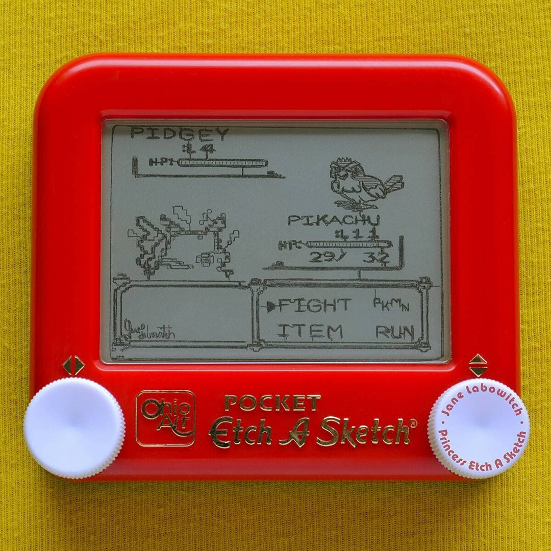 Memes Masterpieces and Pokemon Etch A Sketchd  Hipsthetic