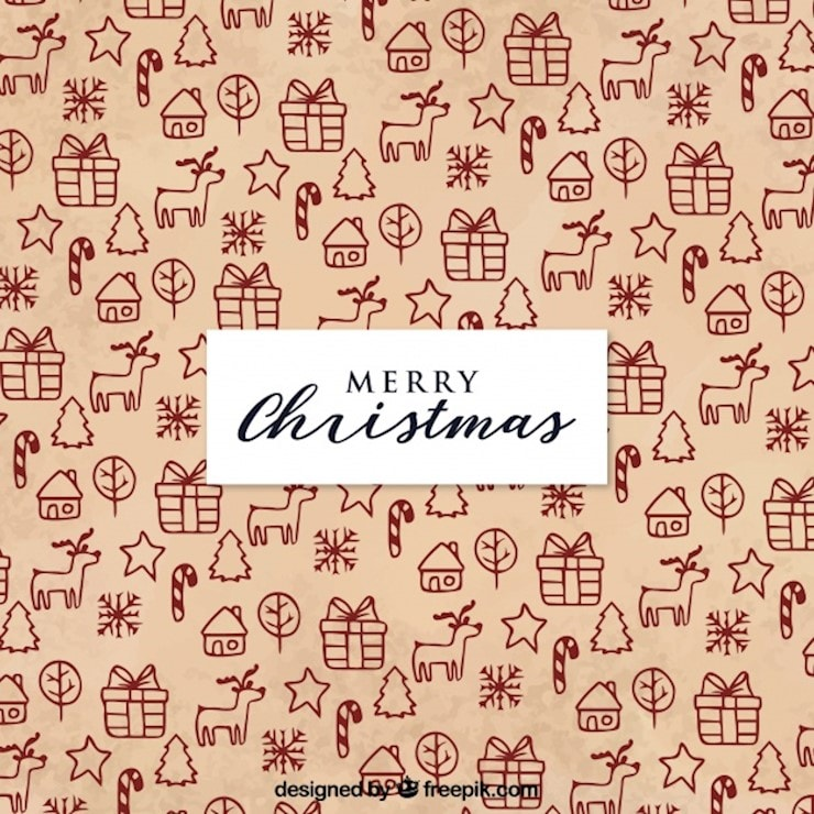 merry christmas patterned background
