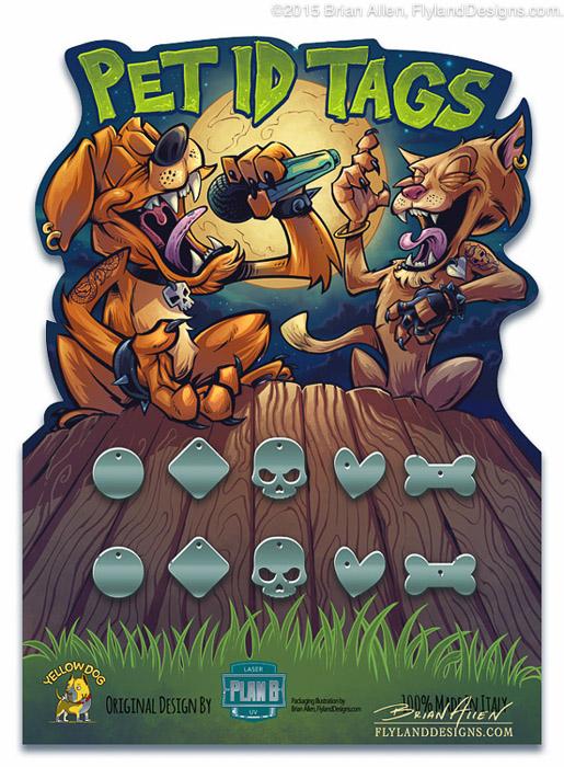 Pet Supply Packaging Illustration