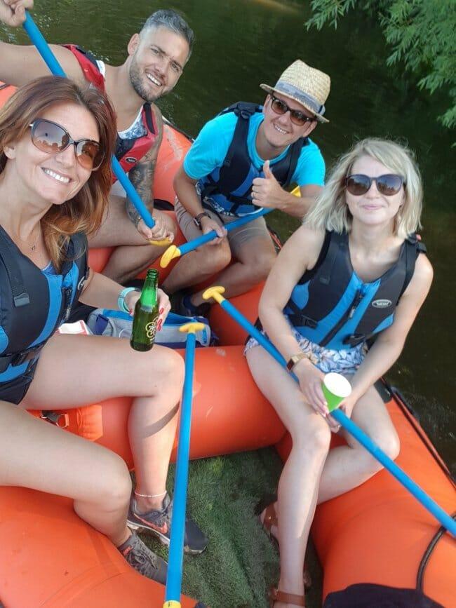 Mini-raft hire in Ironbridge Gorge