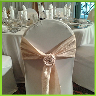 where to buy chair covers in jhb bedroom pink velvet cover hire catering equipment johannesburg tieback champagne sash tie back