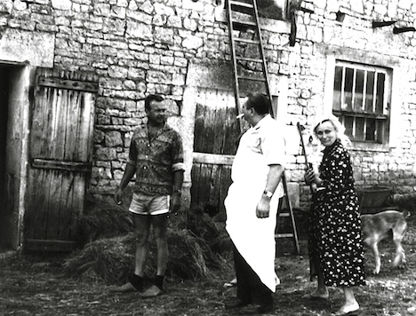 French butcher makes house calls, 1962, Charente,