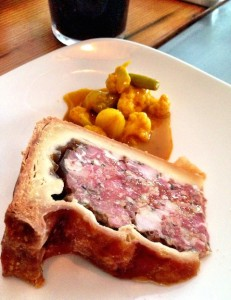 Fat Badger pork pie and piccalilly