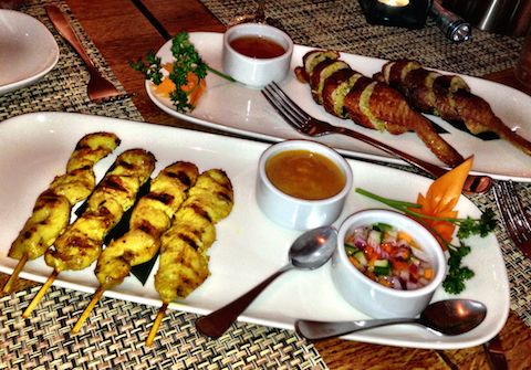 Thai Cuisine by Montri satay and delicious stuffed chicken wings