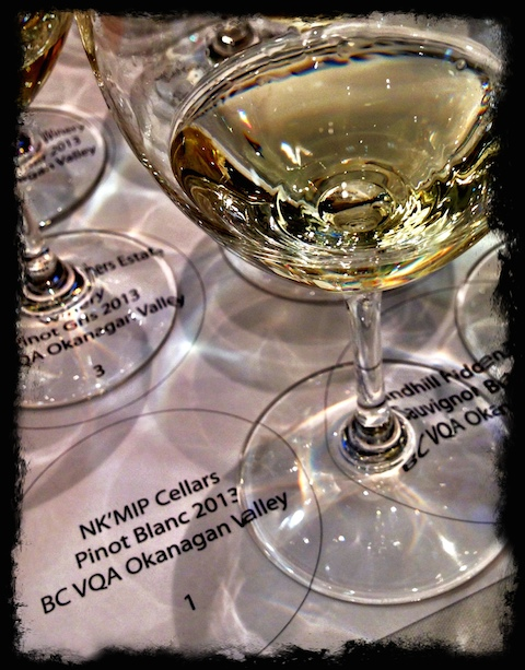 NkMip Pinot Blanc and glass