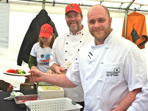 C's Rob Clark and Lee Humphries cook up a storm at BC Spot Prawn Festival