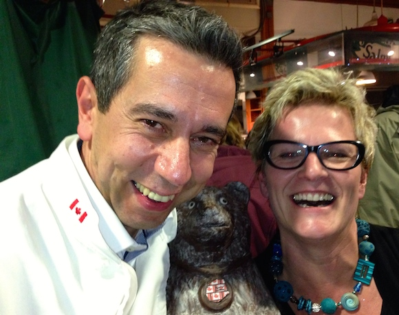 ChocolaTas owners Wim & Veve Tas—with mascot. He's chocolate, of course!