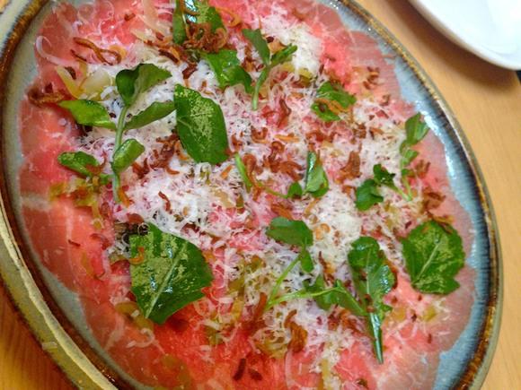 Beef carpaccio 'salad'