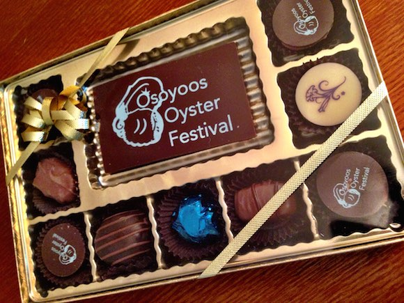Oh, and did we mention the special edition Osoyoos Oyster Festival Chocolates?