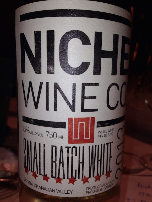 Oyster friendliest: Niche Small Batch White blend of  Riesling, Pinot Blanc and Chardonnay