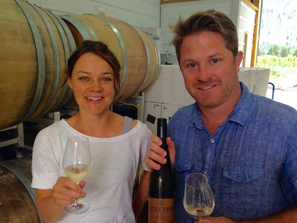 Little Farm owners Alishan Dredger and Rhys Pender, in their Similkameen winery