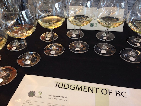 Judgement of BC Chardonnay flight sm Tim Pawsey photo
