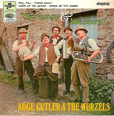 Adge Cutler & the Wurzels: cider fueled comedy and a legend in his time (Courtesy Wikipedia)